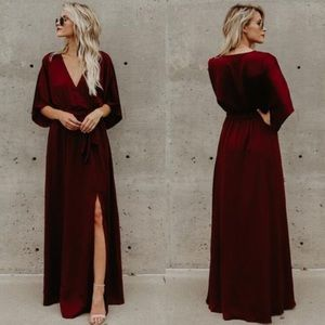 Vici Red Maxi Dress